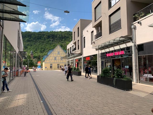 Mosbach Einkaufszentrum mit REWE-Markt